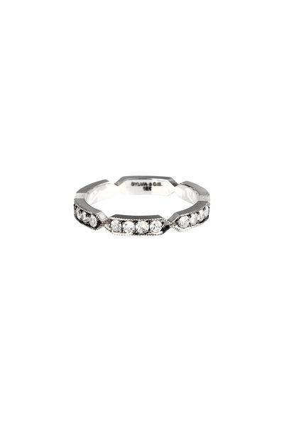 Sylva & Cie - 18K White Gold Diamond Pinch Band