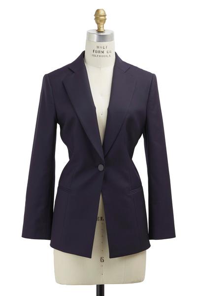 Giorgio Armani - Navy Blue Tonal Stripe Jacket