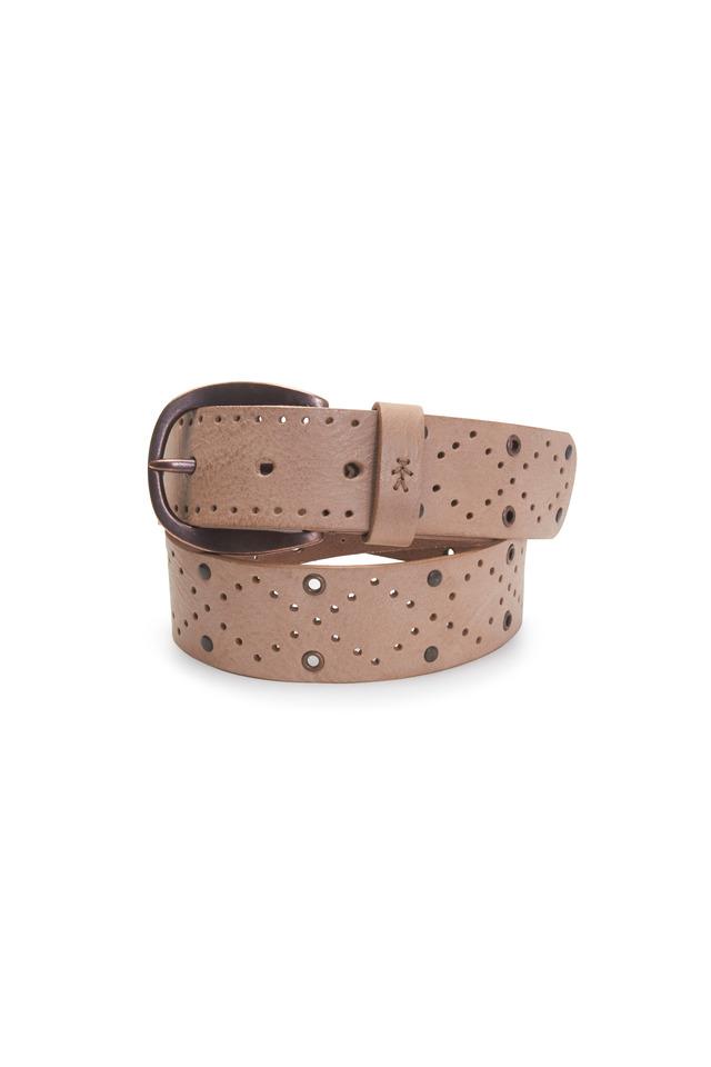 Dune Gray Leather Fling Belt