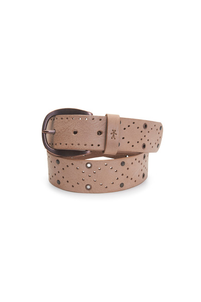 Henry Beguelin - Dune Gray Leather Fling Belt