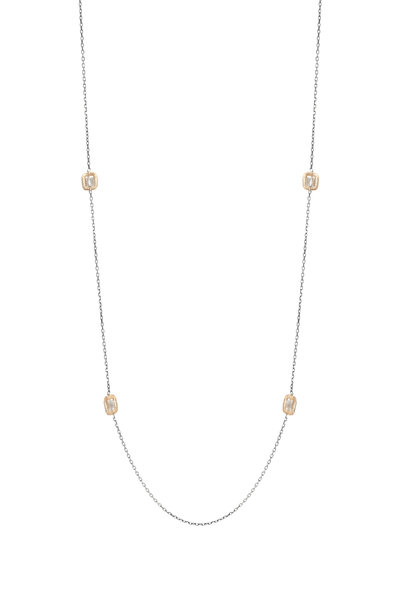 Dana Kellin - 14K Gold & Silver Diamond Station Necklace