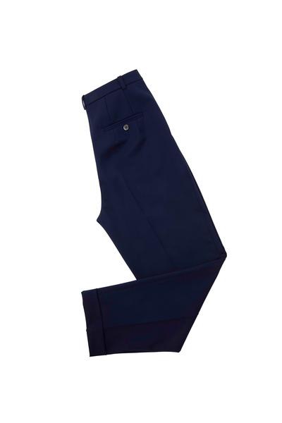 Michael Kors Collection - Indigo Slim Pleated Cuffed Pants
