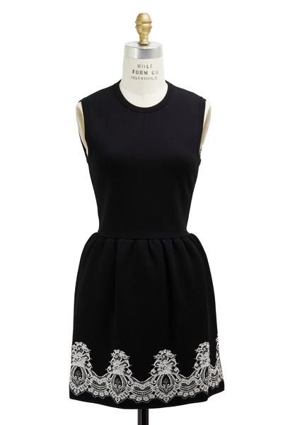 Valentino - Black Viscose & Polyester Dress