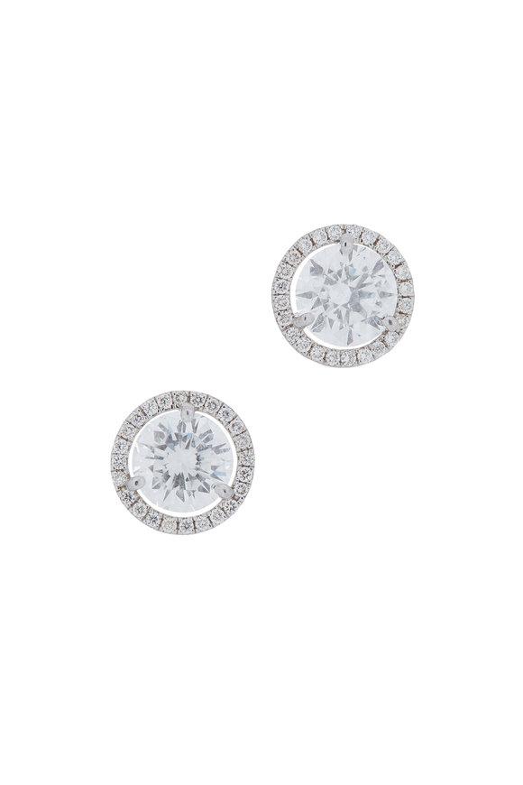 Louis Newman Platinum Diamonds Studs