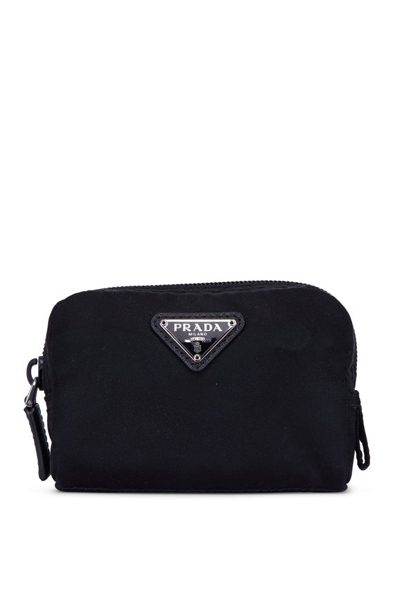 Prada Black Nylon Small Zip Cosmetic Case
